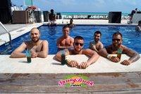 Im Pool des Hotels in Cancun
